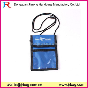Multi-use conference ID card pouch with pen slots and phone pouch