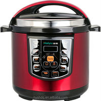 5l red color national electric pressure cooker from Haiyu company