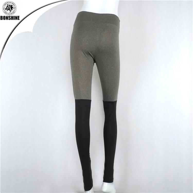 2017Newest design women stitching cotton tight yoga leggings