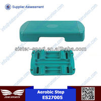 New design high quality oem ES27005 adjustable cheap plastic fitness exercise aerobic step platform