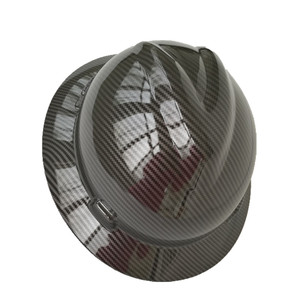 factory custom carbon fiber graphic hard hats
