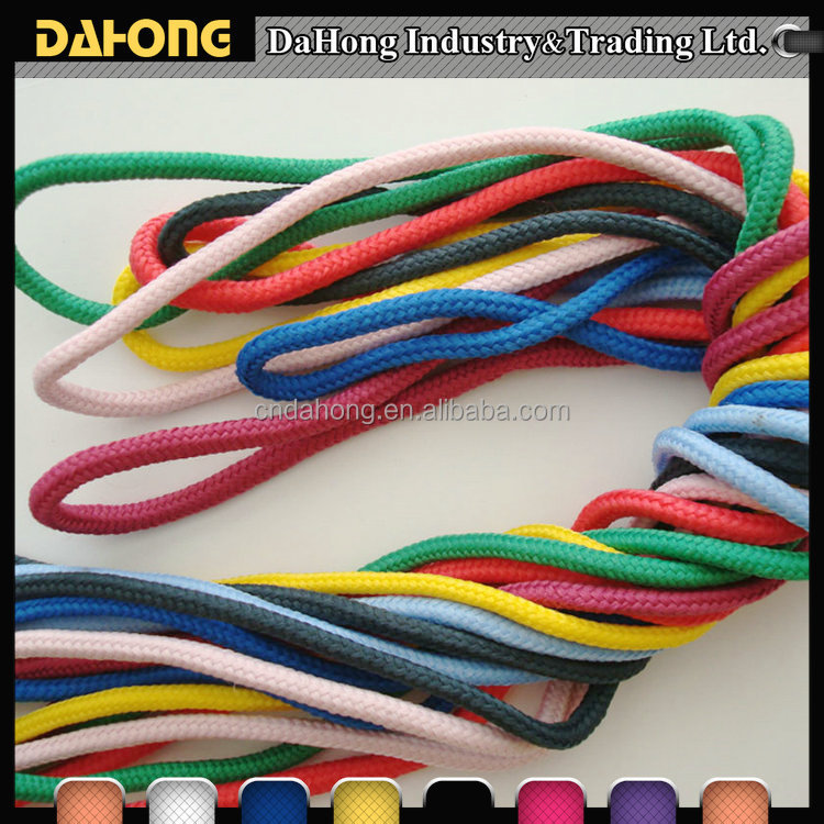 eco-friendly multi colord soft waxed polyester drawstring cord