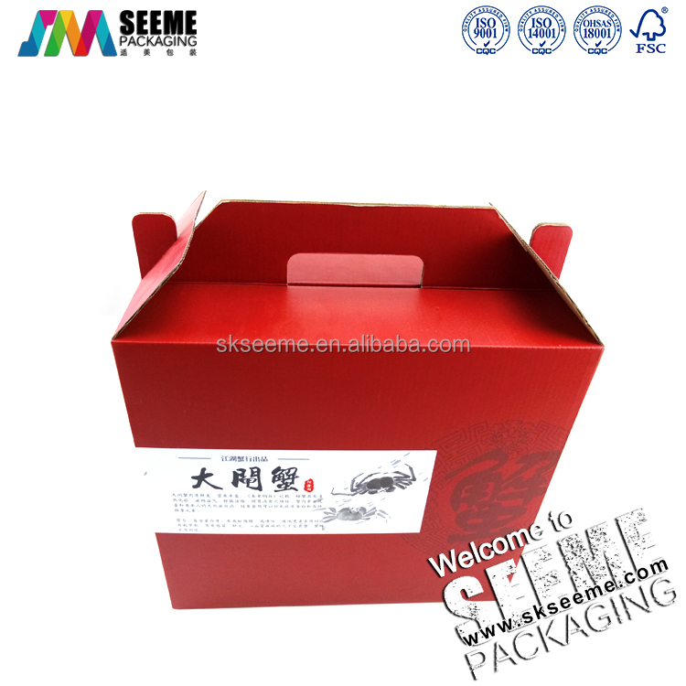 custom corrugated paper recycling sea food packing boxes dry fruits packaging box