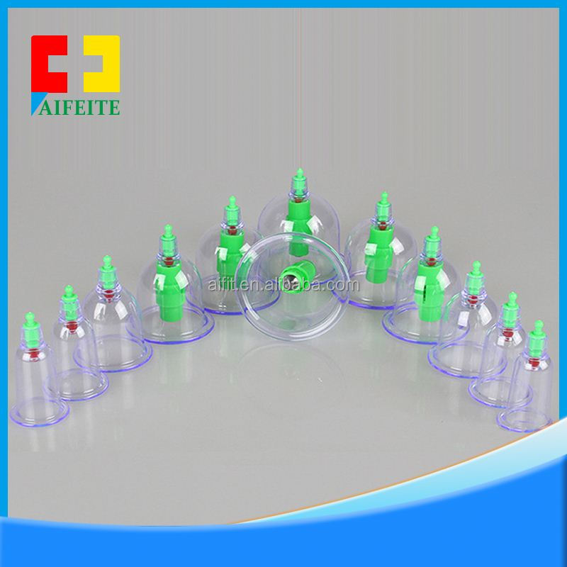 Popular cupping set cupping/hijama kit 12 cups HKG-12