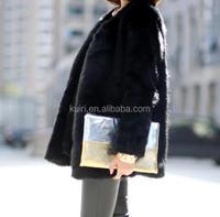 2017 Winter Women Elegant Fashion faux fake fox fur coat women