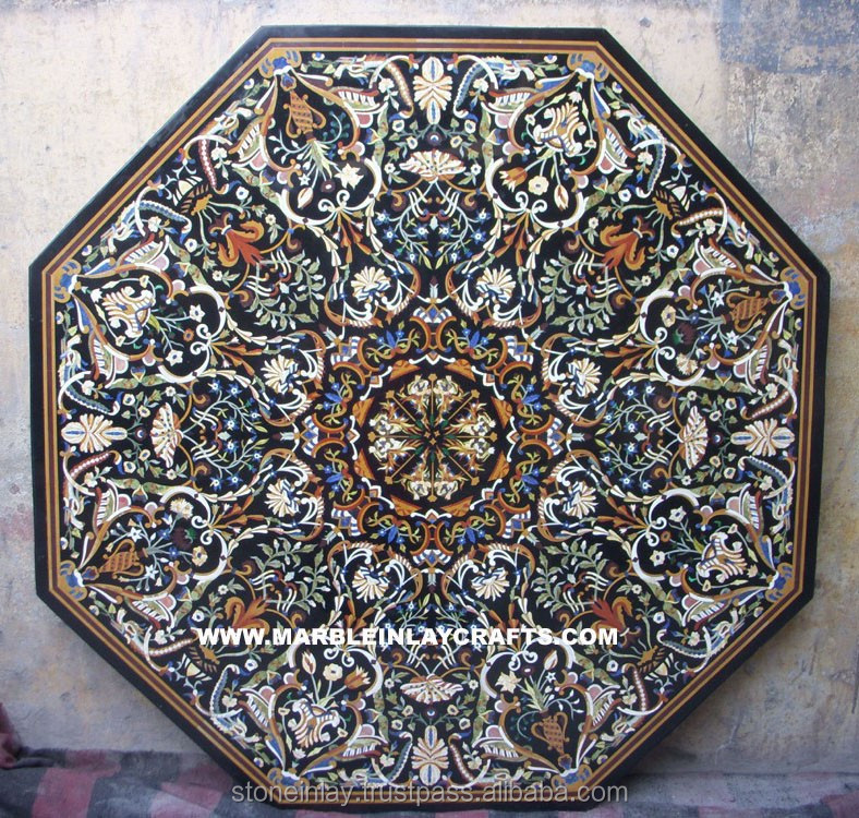 Octagonal Pietra Dura Marble Inlay Dining Table Top,Marble Inlay Table Top    Buy Octagonal Pietra Dura Marble Inlay Dining Table Top,Indian Marble  Table ...
