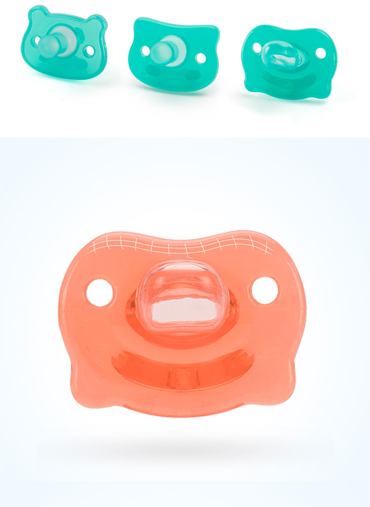 CE Approved first stage non toxic natural rubber silicone dummy clips baby pacifer