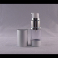 acrylic airless pump skin care cream plastic make up containers for cosmetics