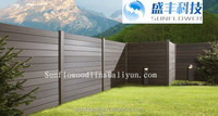 Water Resistance Composite Picket Fencing WPC Garden Fence Wood Plastic Composite Panels 2900 x20 x 205 mm