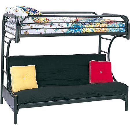 Get Quotations Acme Furniture 02091w Bk Eclipse Twin Over Full Futon Bunkbed Black