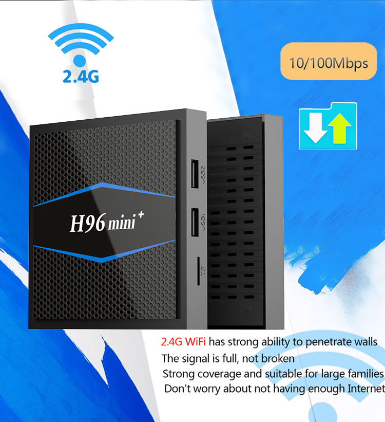 H96 mini + 2 + 16 android tv box wifi adattatore amlogic s905w internet tv set top box h96 mini più