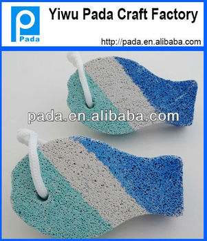 Fish shape foot pumice pad buy pumice stone pumice for for Fish cleaning feet