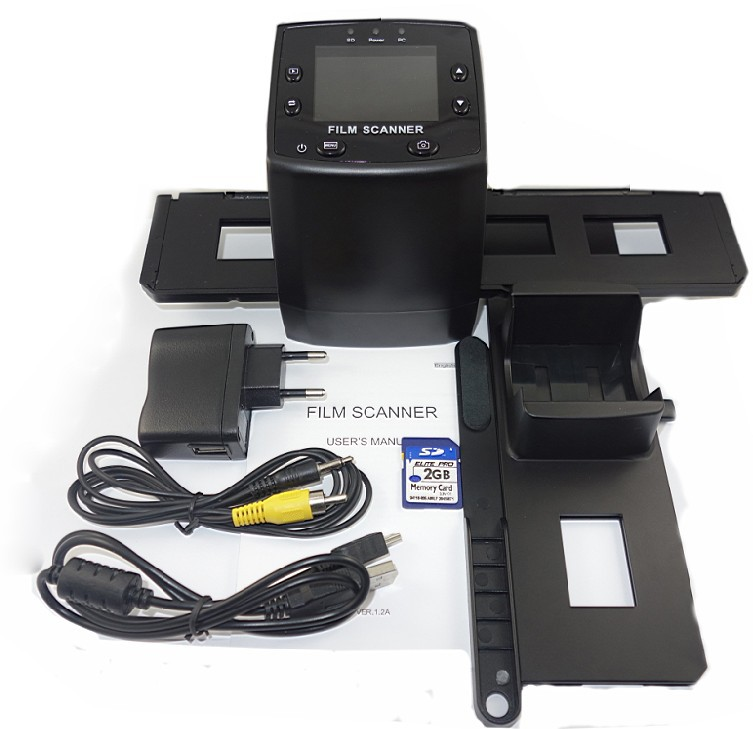 "Film Scanner 5MP Digital Film Negative Photo Scanner Converter 35mm USB LCD Slide 2.4"" TFT Negative Scanner"