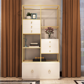 Stainless Steel Book Shelves Modern Tall Thin Gold Frame Decoration Bookshelf Tall White Home Office Bookcase With Drawers