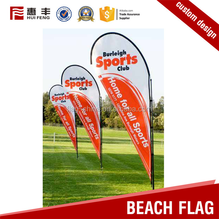 Wholesale custom custom logo sublimation diy beach flag pole