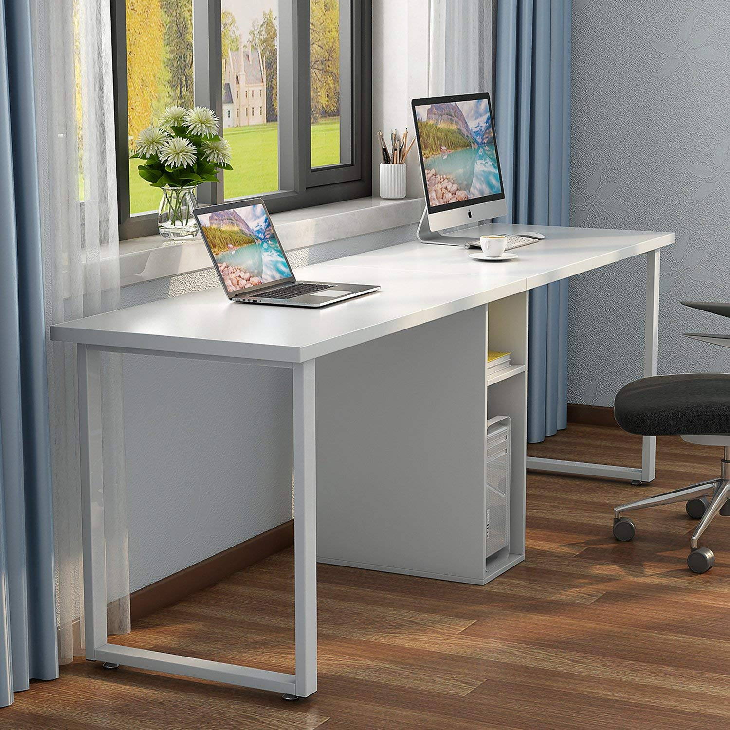 Stupendous Cheap 2 Person Office Desk Find 2 Person Office Desk Deals Home Interior And Landscaping Elinuenasavecom