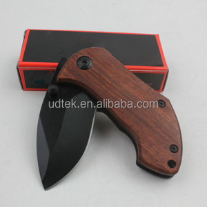 OEM free shipping DA33 Portable Mini wood handle pocket knife