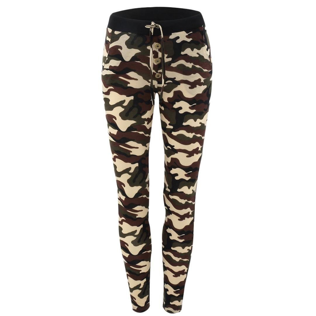 1ff8edae4d Get Quotations · Camo Yoga Pants for Womens,kaifongfu Clearance Camouflage  Elastic Waistband Yoga Gym Leggings Fitness Sports