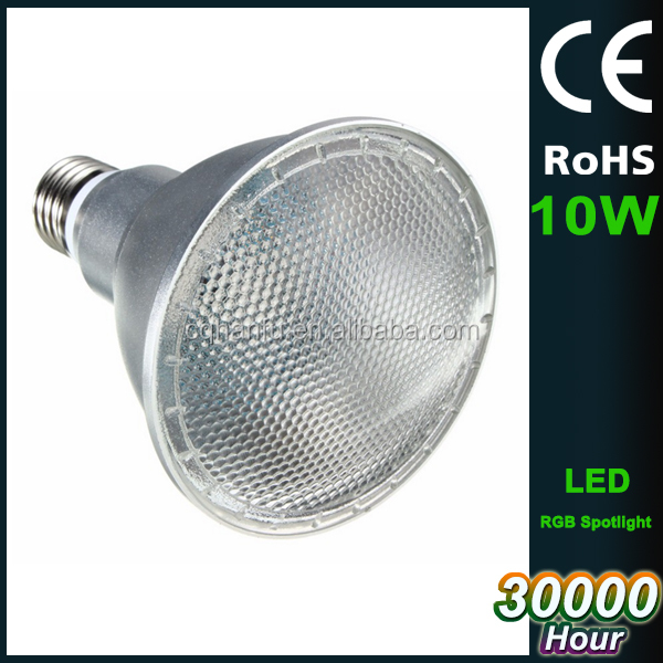 Alibaba wholesale par 30 E27 10W spotlight, PAR30 led spotloght with RGB color changing