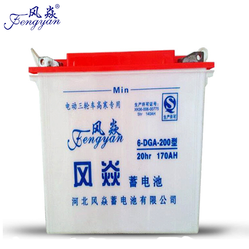 Electric Tricycle Tubular Plate Lead Acid Battery 12V 170AH