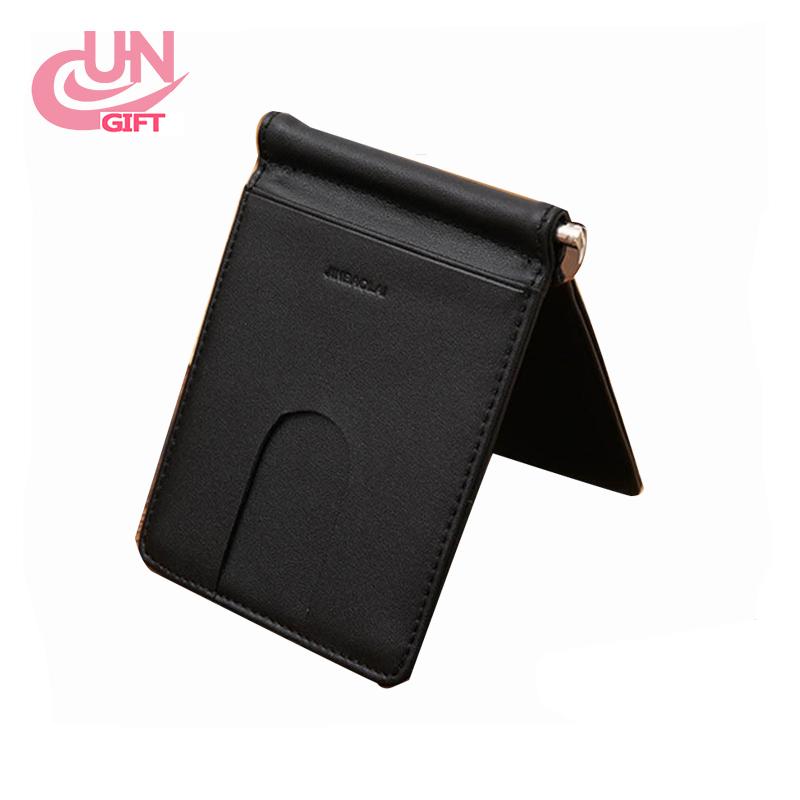 507e592d9114 Black Mens Leather Bifold ID Credit Card Holder Purse Billfold Wallet Money  Clip