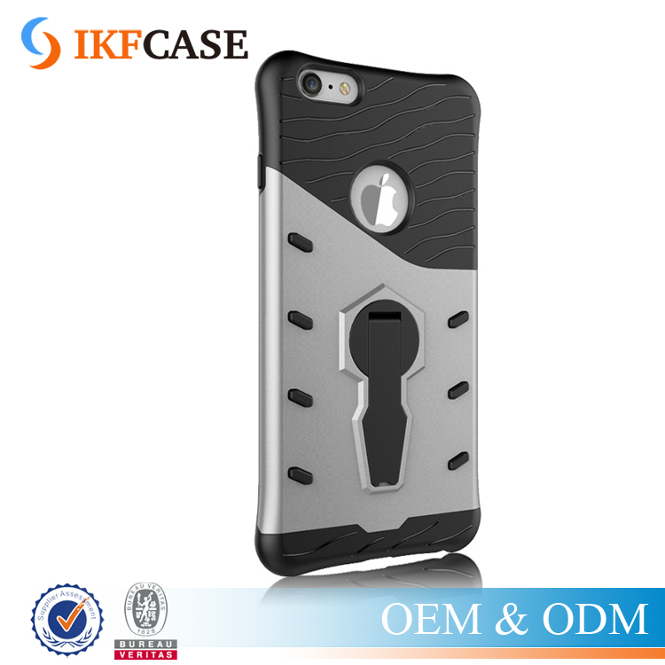 Airbag Design Slim Armor Drop Resistance 360 Degree Protective PC+TPU Phone Case for iPhone 6S Plus