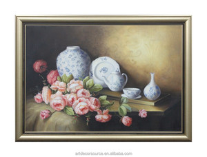 Canvas Still Life Oil Painting with Frame