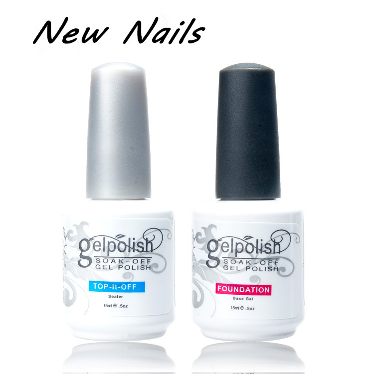 2018 professional gel nail art high Quality top coat uv gel base coat gel