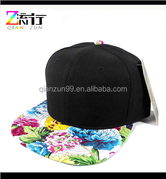 Hengxing wholesale snapback hat with flower brim