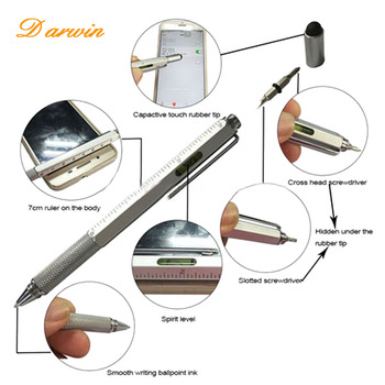 2018 4 in1 New design multi metal tool pen with stylus and roller