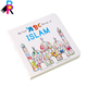 Cheap customized colorful English story cardboard comic baby kid book