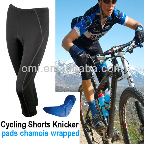 3/4 custom cycling pants with CoolMax pads womens cycling pants Cycling Short knickers