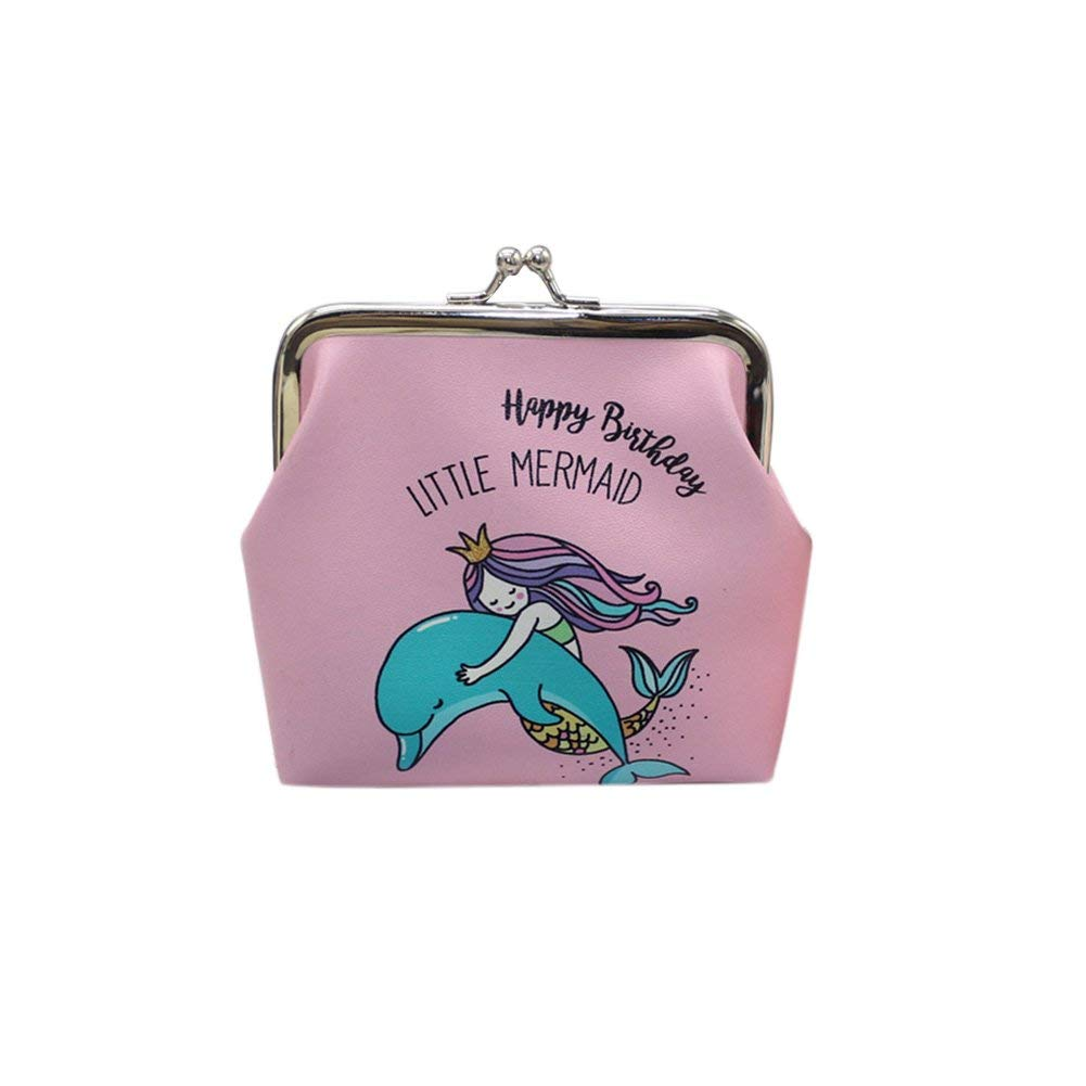 b974376915 Get Quotations · Brave669 Retro Cartoon Mermaid Faux Leather Kiss Lock Coin  Purse Wallet Women Girl Gift