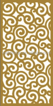 Laser Cut Wood Grille Panels For Hotels Decoration