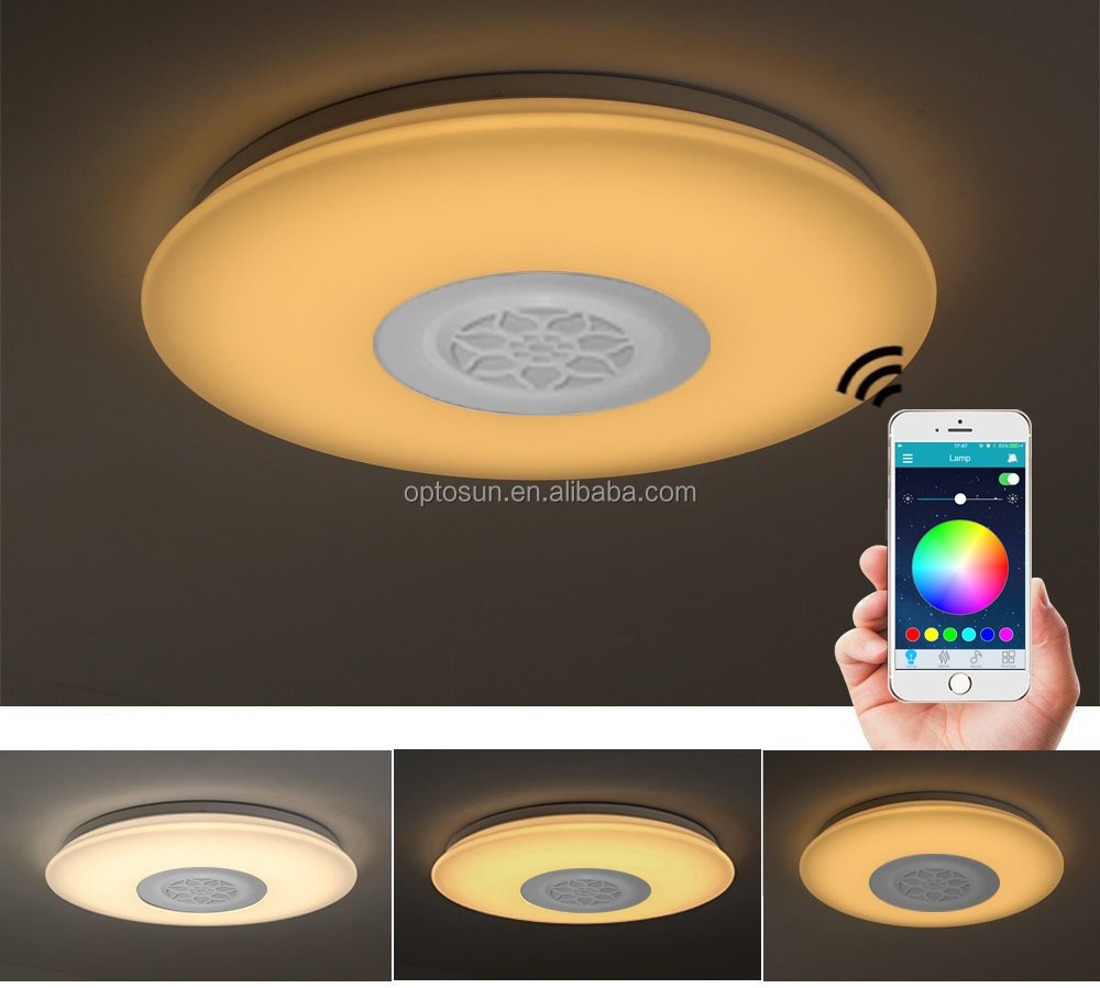 High Quality Wireless Remote Led Ceiling Light 40w Smart Music