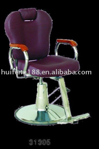 Barber Chairs 31305# 2012 hot sale comfortable durable new style simple design purple salon furniture leather