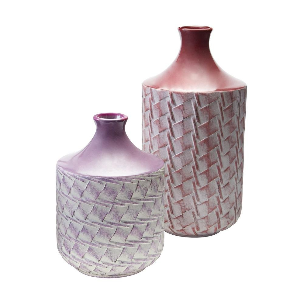 Cheap purple vases wholesale find purple vases wholesale deals on woven earthenware decorative vases in purple and radiant orchid reviewsmspy