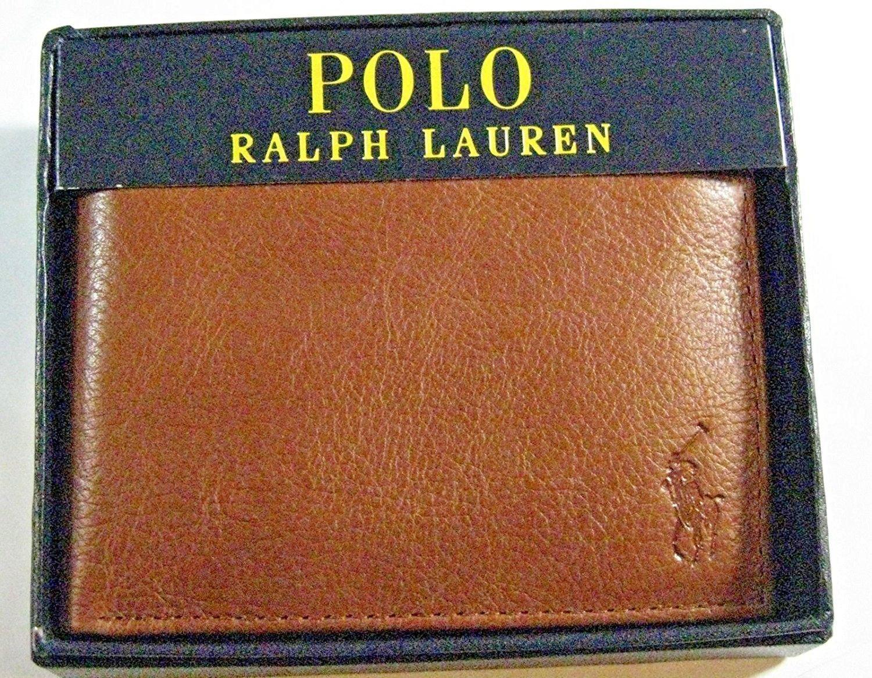 Polo Ralph Lauren Tan Pembroke Passcase Billfold and Credit Card Holder  Wallet bd2d3e031b9