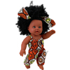 12 Inch Black PVC American African Afro Hair Girl Doll for Children