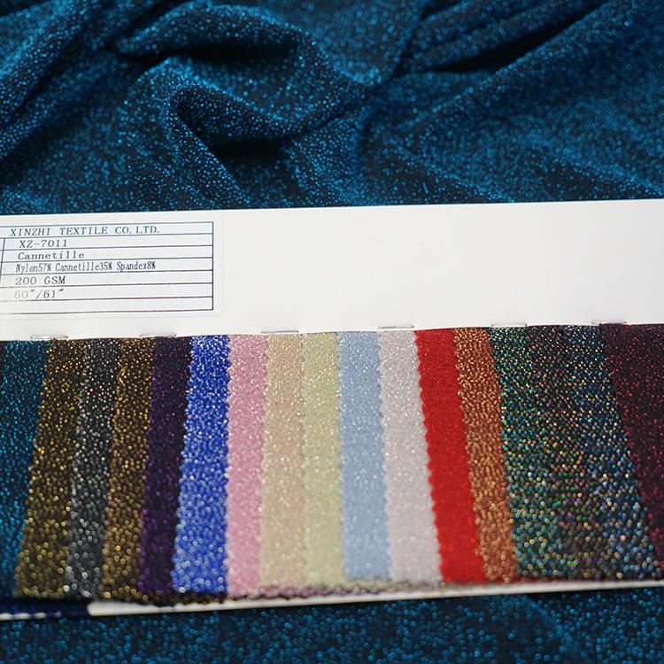XZ-7011 Metallic non woven Jacquard Brocade material sewing cloth patchwork lame fabric
