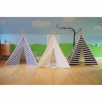Vintage parti Bambini Tenda Playhouse Teepee Play Indoor Per Bambini All'aperto Indiano Tela Capanna Casa
