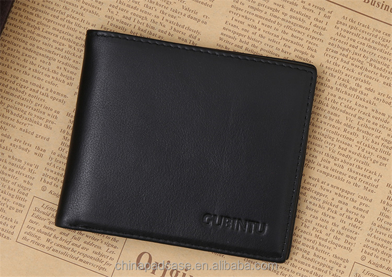 Genuine leather RFID men wallet signel shield wallet protect your card information