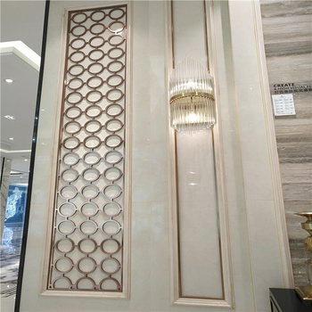 high end hotel decorative metal screen partition and other metal products