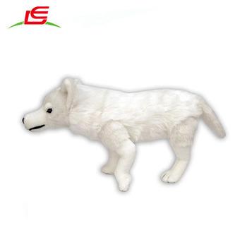 Juguete Buy Realista De Simulación Peluche Blanco Lobo juguete Realista UVzqMGpS