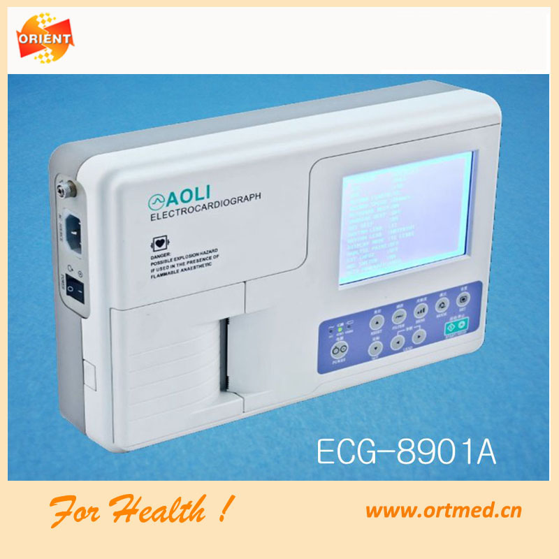 surgical operating 3 channel ecg machines, operating surgical single channel ECG, 6 channel ecg machine