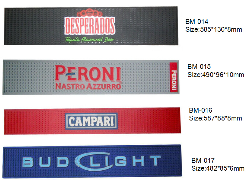 Anti Slip Red Branded Bar Mat Beer Bar Runner