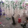 Cheap large outdoor artificial wisteria flower tree for wedding decoration ornamental tree