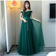 Женское кружевное платье подружки невесты Beauty-Emily, длинное платье без рукавов со шнуровкой для свадебной вечеринки и выпускного вечера, 2020(Китай)