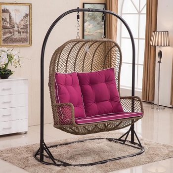 Good Weight Bearing Rattan Indoor Swing Sofa With Steel Stand Chair Product On Alibaba