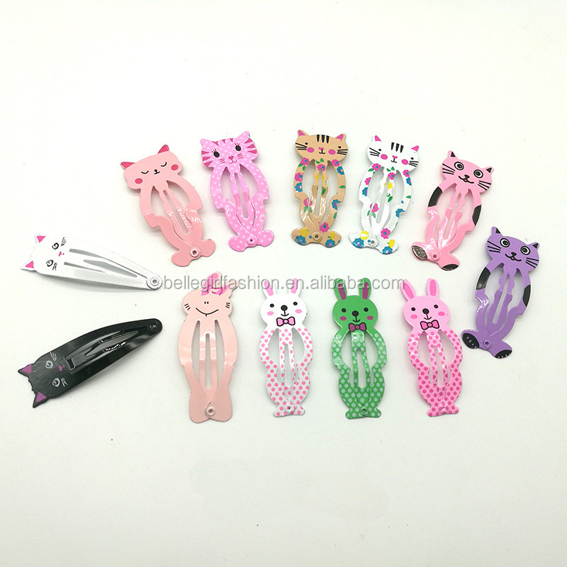 Wholesale kids hair accessories sweet design hair snap clip